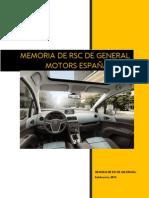 Memoria de Rsc General Motors España 2014