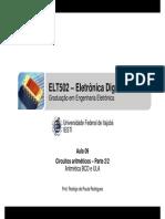 ELT502 - Aula 09 - Circuitos Aritméticos - Parte 2