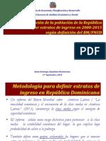Evolución de la Población de la República Dominicana por Estratos de Ingreso en 2000-2015