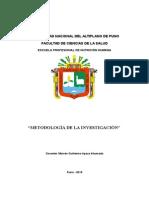 Curso Metodologia Investigación 2015 i Epnh