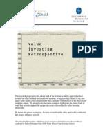 Value Investing Retrospective - Columbia Business School