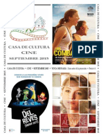 Programa Cine Septiembre 2015