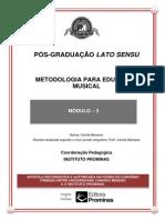 Metodologia Para Educação Musical--módulo 3
