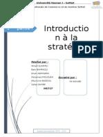 1 Ére Partie Introduction à La Stratégie