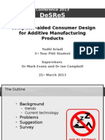 Computer-aided Consumer Design for Additive Manufacturing Products
