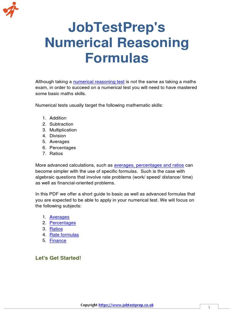numerical-reasoning-formulas.pdf | Percentage | Mathematics