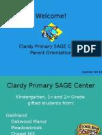 primary sage parent orientation night