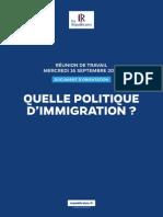 Journée Politique Immigration 2015