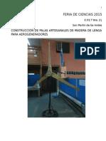 Construccion de palas para aerogeneradores en madera de lengq
