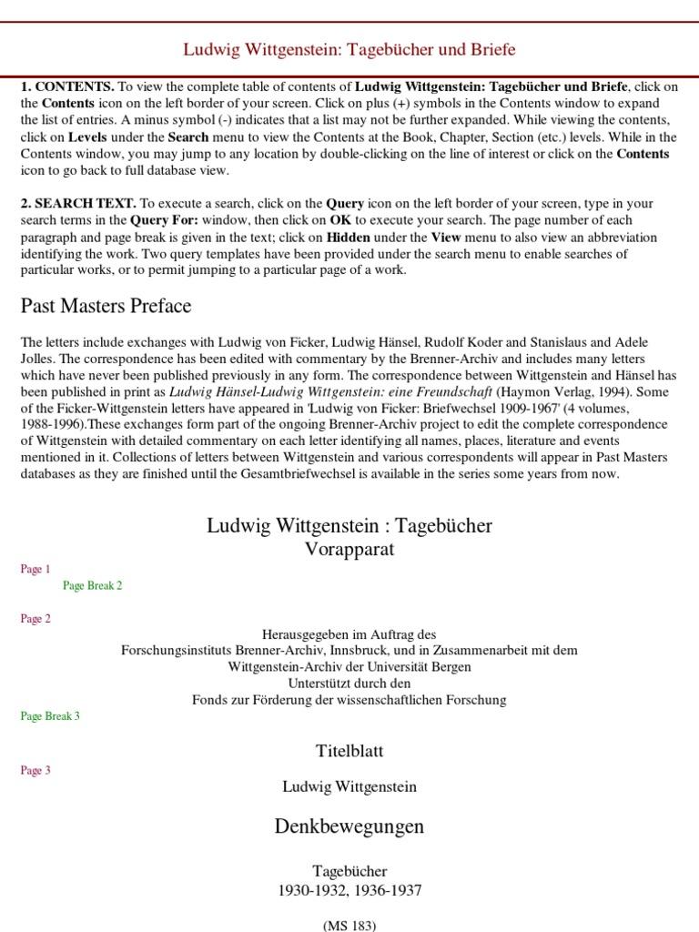 Ludwig Wittgenstein_ Tagebücher und Briefe - 635s