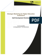 Flyer Strategic Marketing for Higher Education Institutions 2013