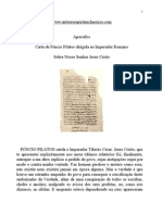 Evangelho Apócrifos - Carta de Pôncio Pilatos Dirigida Ao Imperador Romano