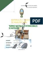Normas Nacionales e Internacionales de materiales