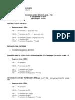 CRONOGRAMA ORIENTAÇÃO PIM I