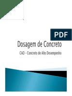 Dosagem de Concreto Exemplo CAD