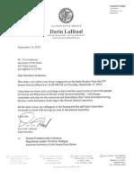 U. S. Sen. Darin LaHood's letter of resignation from the State Senate