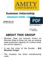 Industrial Training (BHUSHAN STEEL)