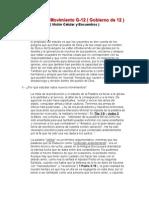Estudio Del Movimiento G-12 ( Gobierno De