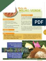Receitas Juninas Bolo de Milho Verde