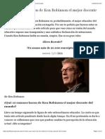 10 Frases Que Hacen de Ken Robinson El Mejor Docente Del Mundo