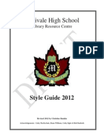 mhs style guide 2015
