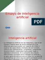 Ensayo de Inteligencia Artificial