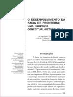 2005 Desenvolvimento Faixa de Fronteira Retis