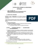 Bases Convocatoria XIX Concurso Artesanal 2015