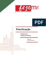 Manual Precificação 2011