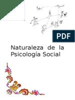 Naturaleza de la Psicología Social