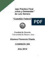 Cuestion Federal Resolución Contraria Implícita