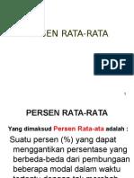 Persen Rata Rata