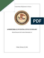 2001 Anthrax Investigation Report