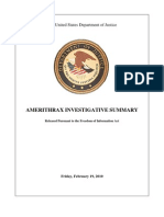 2001 Anthrax Investigation Report
