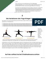 Yoga Krieger I, II und III (Virabhadrasana) - Yoga Übungen