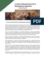 Artículos Sobre La Declaracion de La Independencia Argentina