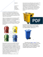 Colores a Emplear Para El Reciclaje de Basura