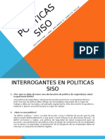 Interrogantes en Politicas Siso