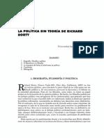 La política sin teoría de Richard Rorty