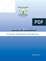 Internal Medicine Clinical Treatment Guidelines 9-10-2012 1