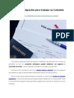 Trámites de migración para trabajar en Colombia