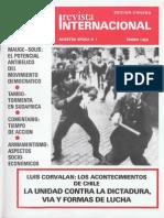 Revista Internacional - Nuestra Epoca N°1 - Edición Chilena - Enero 1986