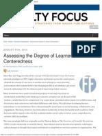 Michael Harris IU Kokomo, Faculty Focus, Assessing the Degree of Learner-Contentedness, Michael Harris Chancellor