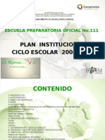 Plan Institucional