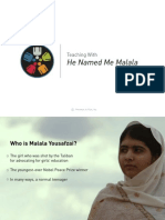 "Teaching With ""He Named Me Malala"""