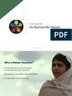 "Teaching With ""He Named Me Malala"""