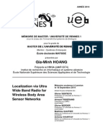 Localization UWB in BAN