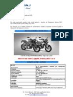 Motocicleta Bajaj Pulsar 200 Ns