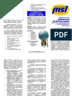 Manifiesto de Solidaridad Laboral Triptico 2010