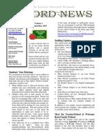 Newsletter Vol 1 - 12 September 2015